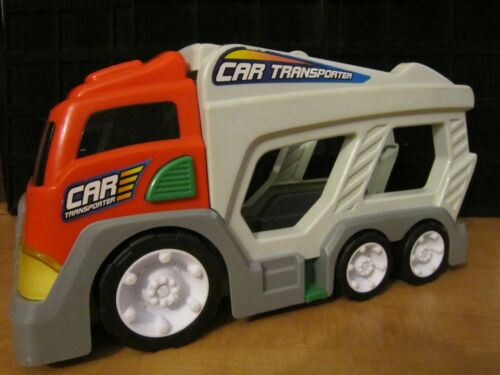 """MOTOR SOUNDS--15/"""" BY 8/"""" HEIGHT USED CAR TRANSPORTER--BATTERY OPERATED-"""