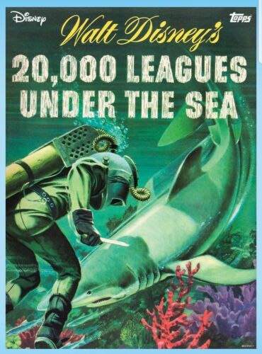DISNEY TOPPS COLLECT 20,000 LEAGUES COMIC RARE POSTER 1:100