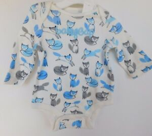 NWT-Gap-Baby-Boy-1Pc-Bodysuit-Fox-Gap-Logo-Sizes-0-3M-Free-Ship-NEW