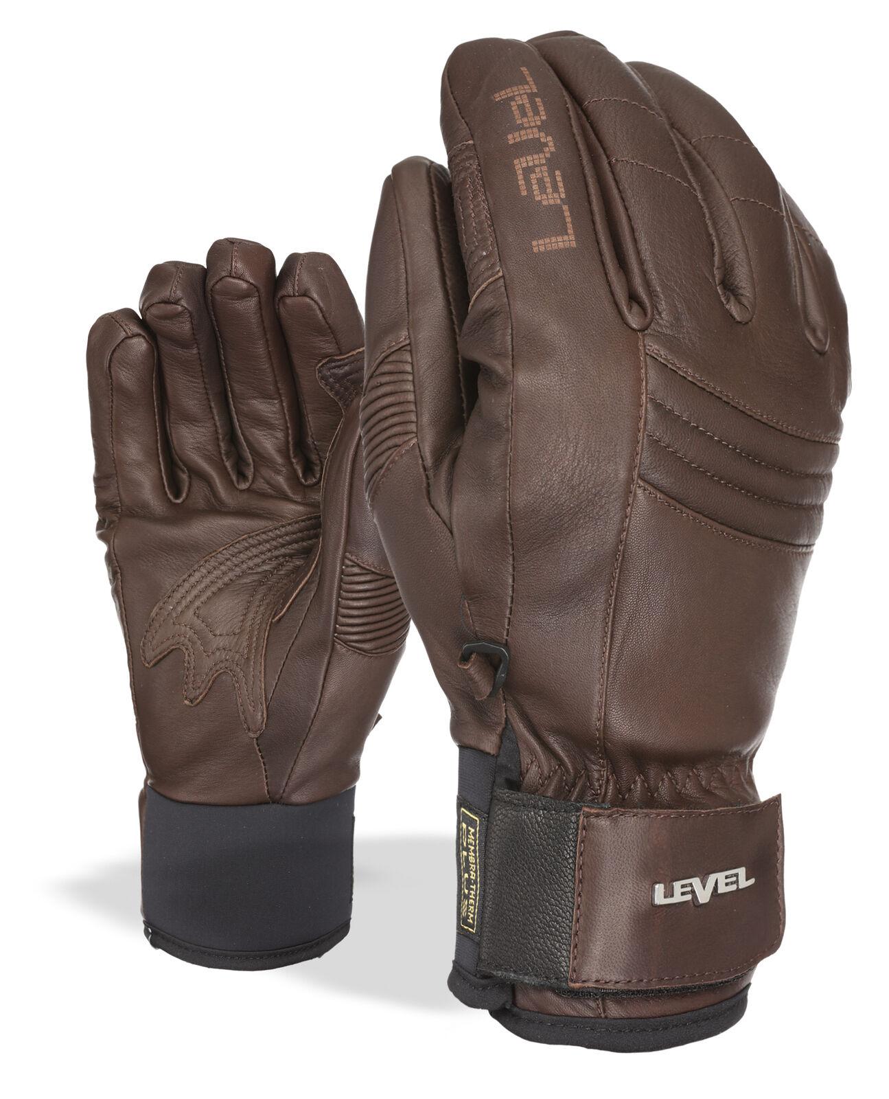 Level Handschuh Skihandschuh braun Rexford Primaloft® Thermo-Plus