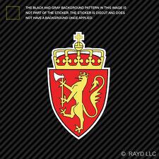Norwegian Coat of Arms Sticker Decal Self Adhesive Vinyl Norway flag NOR NO