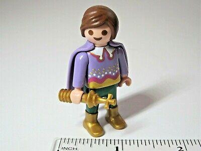PLAYMOBIL Figure C65 Prince Child w// Cape and Crown Royal Castle