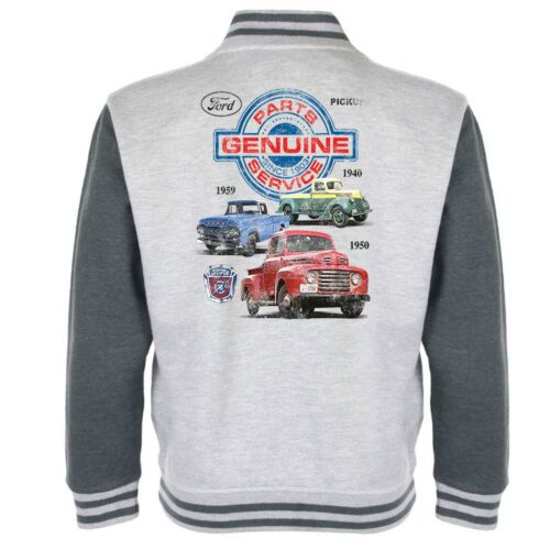 Ford Parts Baseball Varsity Jacket Classic Vintage American Muscle Car Clothing