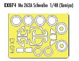 Eduard 1//48 EX074 canopy masque pour le tamiya messerschmitt kit Me262A-1a