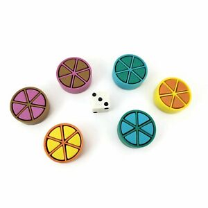 Trivial-Pursuit-Replacement-Parts-Tokens-Scoring-Wedges-Pieces-Pie-Movers-Set