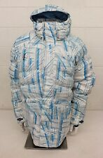 Oakley High-Quality Loose Fit Down Filled Hooded Puffer Jacket Blue Plaid XL