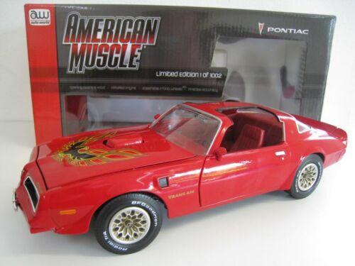 1977 Pontiac Firebird Trans Am  Limitiert 1002 Stück  Auto World  1:18  OVP  NEU