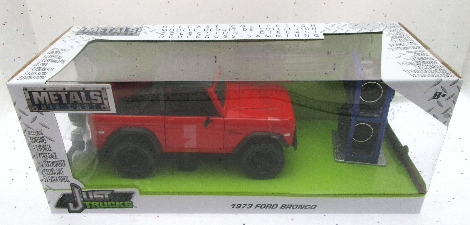 1973 Ford Bronco  Rouge  1 24 Métaux Moulage sous Pression Camion  Just