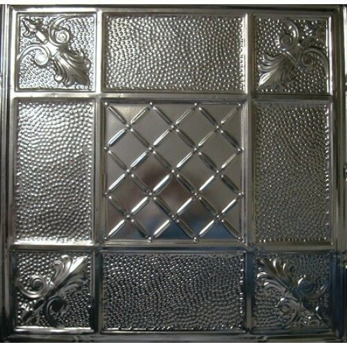 #114-Tin Ceiling Tiles Unfinished Nailup 5 pcs per box