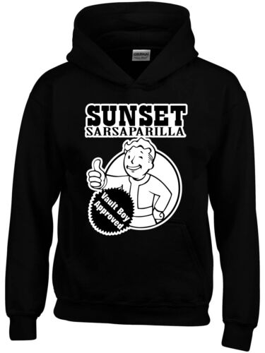 Fall Out 4 Inspired Sunset Sarsparilla Boys Girls Kids Funny Hoodie Gamer