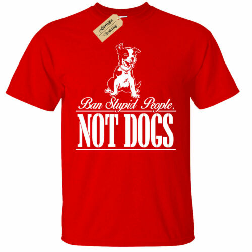 KIDS BOYS GIRLS Ban Stupid People Not Dogs T-Shirt
