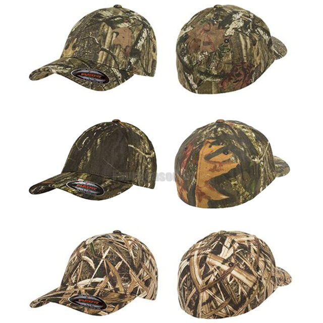 ee73fa6de Flexfit Mossy Oak Infinity Camouflage Fitted Cap Camo Hat S/M L/XL XL/2XL  6999