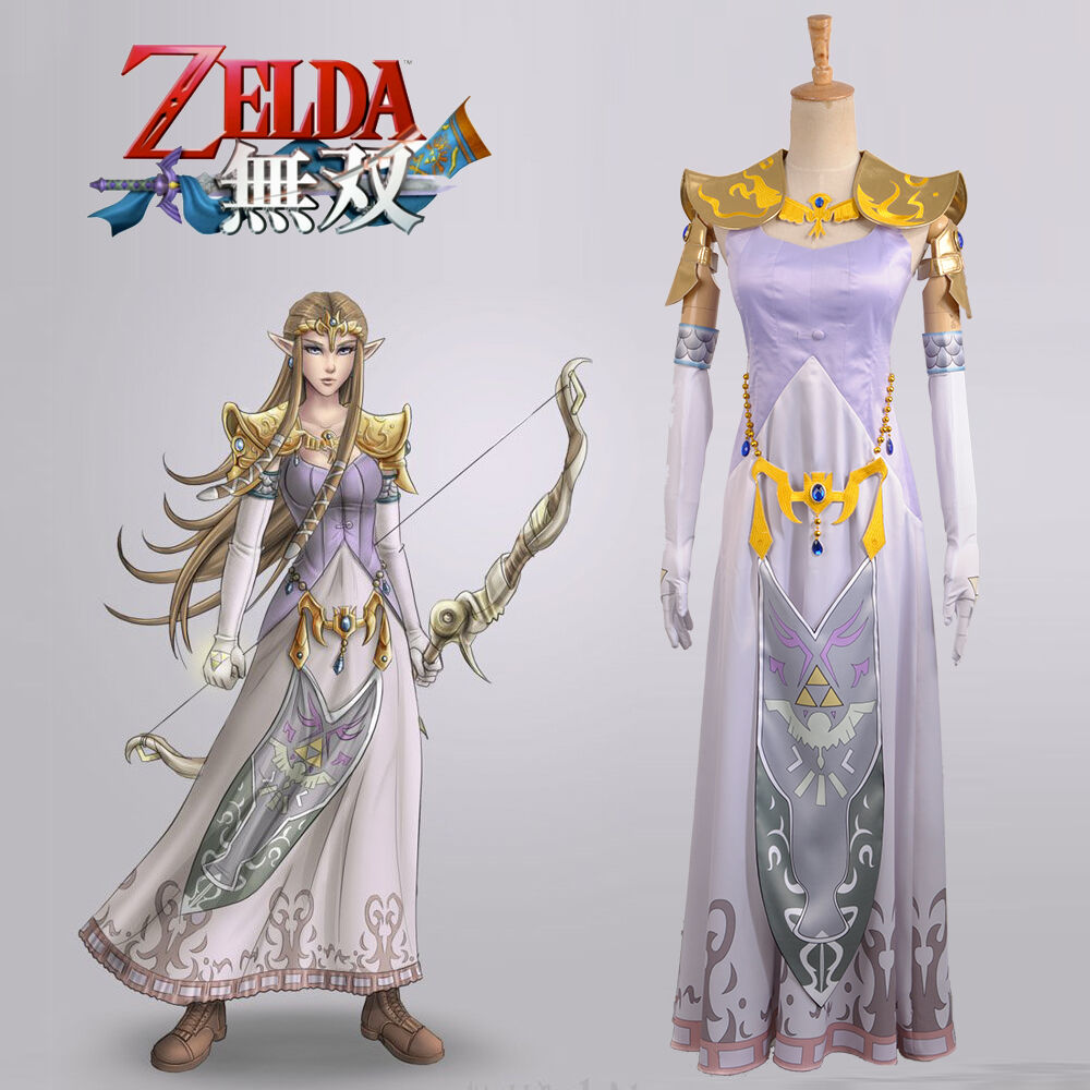 The Legend of Zelda - Hyrule Warriors Princess Zelda Cosplay Costume Custom Adult
