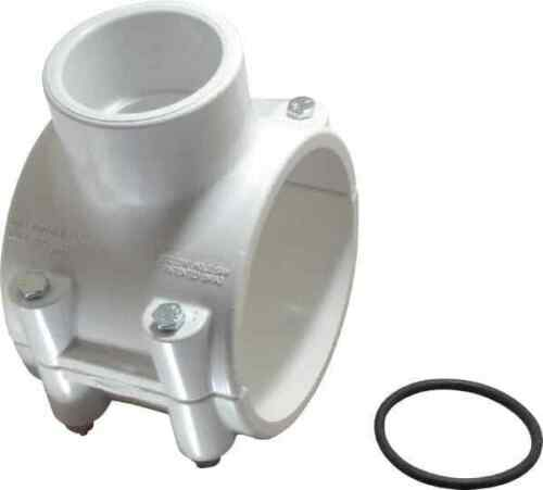 """PVC Pipe WorkSmart 4 x 2/"""" Clamp On Saddle with EPDM O-Ring Schedule 40 Pip..."""