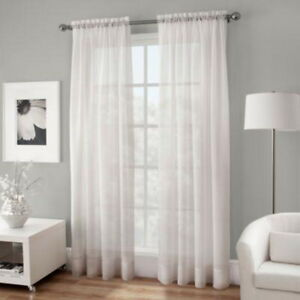 Details About 100 Cotton Gauze Rod Top Curtain 54 Inches X 108