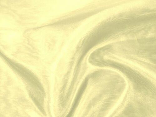 "Stunning CREAM IVORY SHEER ORGANZA Poly//Nylon Fabric 48/"" Wide Bridal"