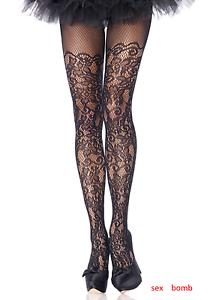 SEXY calze collant Nere Pizzo Ricamato Taglie Comode Lingerie Fashion Fashion Fashion GLAMOUR 8e8c0e
