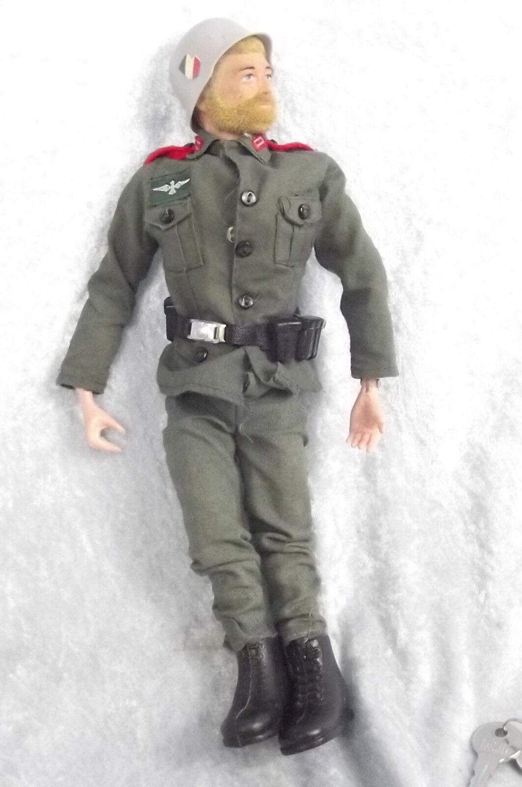 2nd Issue Action Man German Stormtrooper Uniform & Circa 1971 Fuzzy HaiROT