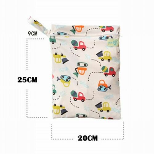 Single Pocket Diaper Nappy Wet Bag Waterproof Reusable Travel Storage For Women