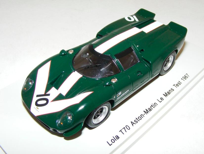 1 43 Spark Lola Lola Lola T70 car Aston Martin 24 Hours LeMans Test 1967 Surtees S1262 31007b