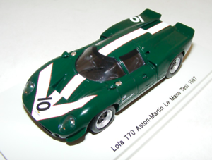 1  43 Spark Lola T70 -bil Aston Mkonstin 24 Hours LeMans Test 1967 Surtees S1262