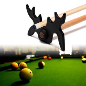 Billiards-Cue-Rack-Bridge-Head-Cross-Antlers-Rod-Stick-Frame-Pole-Holder-Black