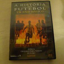 (2) DVD's A Historia do Futebol Um Jogo Magico Africa Um Jogo Para Todos Futuro