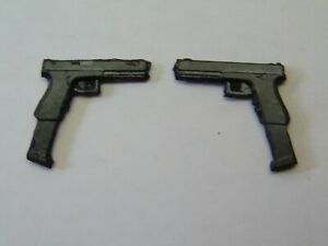 "Custom Weapons 1:12 Scale 6/"" Fig 2x GLOCK 17L Regular Magazine Handguns Pistols"