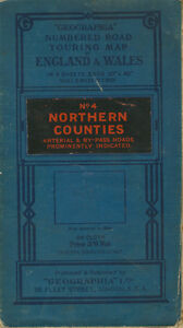 Geographia Numbered Road Touring Map No4 Northern Counties 5 miles to 1034 c1936 - Retford, United Kingdom - Geographia Numbered Road Touring Map No4 Northern Counties 5 miles to 1034 c1936 - Retford, United Kingdom