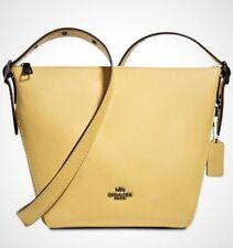 fashionable patterns cheaper sale various design Coach Small Dufflette 21377 Sunflower Yellow Leather Crossbody Shoulder