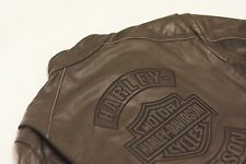Harley Davidson Men Black Guard Reflective Leather Jacket Flames 97109-09VM 2XL