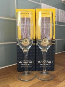Pair Of Heidsick &Co Monopole Champagne Flute Glasses In Box opKJAiaX-09115555-336826041