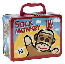 SOCK MONKEY Tin Keepsake Lunch Box New WITH TAGS SMKB