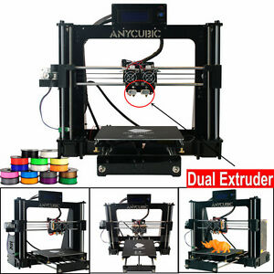 anycubic prusa i3 3d drucker lcd bildschirm 3d printer diy kit c12 dual extruder ebay. Black Bedroom Furniture Sets. Home Design Ideas