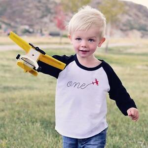 Image Is Loading First Birthday Shirt Airplane Baby Toddler Boy Girl