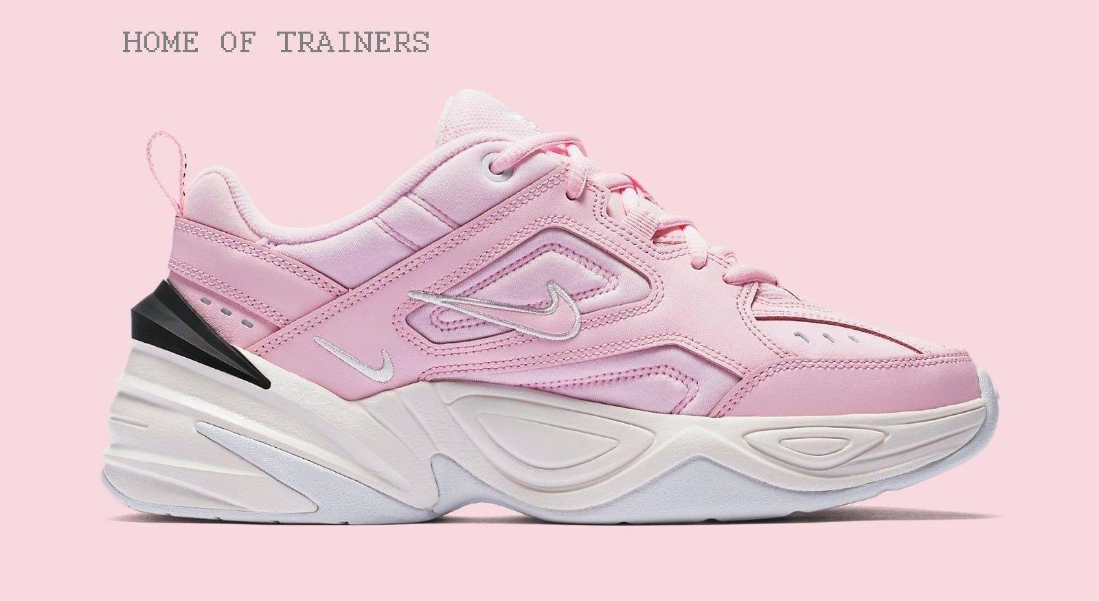 Nike rosa m2k tekno schiuma ragazze 'formatori tutte le dimensioni