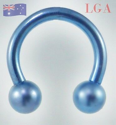 Hshoe DARK BLUE ANODISED TITANIUM Piercing CBR Barbell Body Bar 12g 11 mm C