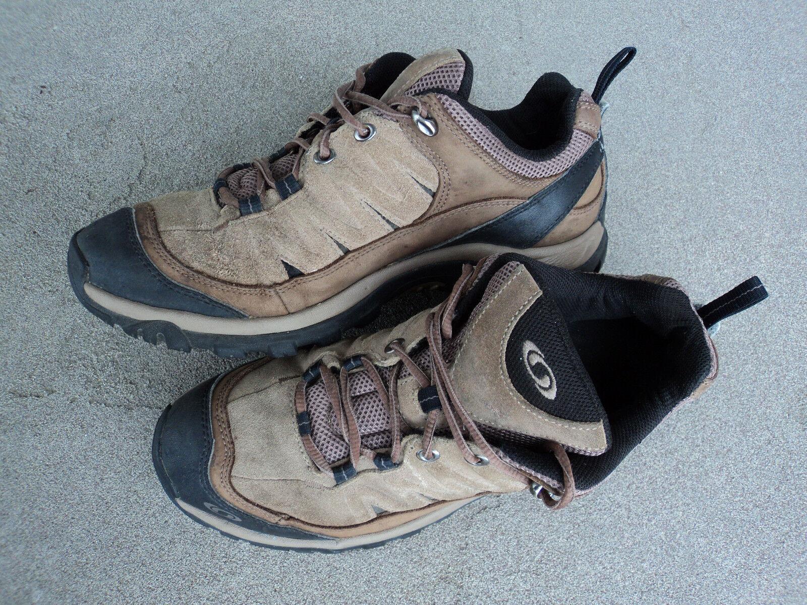 SALOMON Men's US 10 Contagrip Soles shoes Boots Suede Walking Running Trail