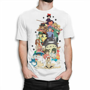 Studio-Ghibli-Combo-T-shirt-Hayao-Miyazaki-Anime-Tee-Men-039-s-Women-039-s-All-Sizes
