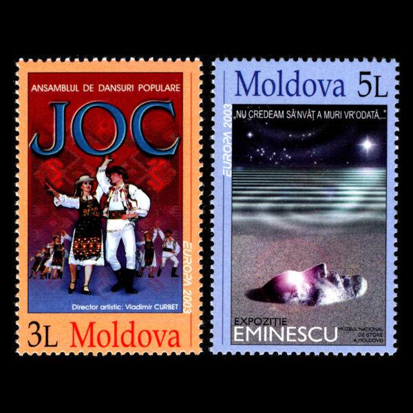 Moldova 2003-europa Timbres-poster Art-sc 444/5 Neuf Sans Charnière Larges VariéTéS