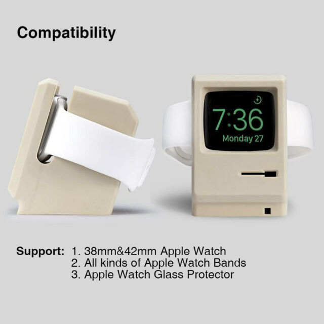 Silicone Charging Dock Stand Holder Cradle Station Mac For Apple Watch iWatch