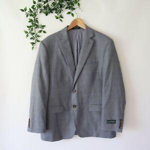 New Lauren Ralph Lauren Men's Lined Two Button Blazer Sportscoat 42S Short Gray