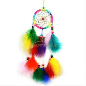 Colorful-Dream-Catcher-with-Feathers-Car-Wall-Hanging-Decor-Ornament-Craft-Gift