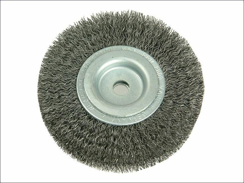 Cepillo de rueda D125 mm x ancho W29-31 x 40 Juego de alambre de acero 2 0.30