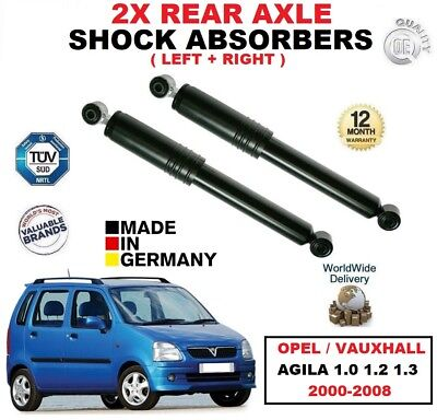 FOR FORD KA 1.0 1.3 1.6 2000-2008 NEW 2 X REAR LEFT RIGHT SHOCK ABSORBER SET