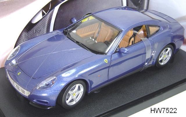 Ferrari 612 scaglietti blau von hot wheels 1,18 brand new in box gratis - versand
