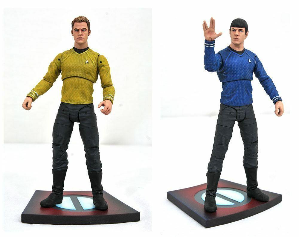 Star Trek Into Darkness Kirk & Spock Action Figures Chris Pine & Zachary Quinto