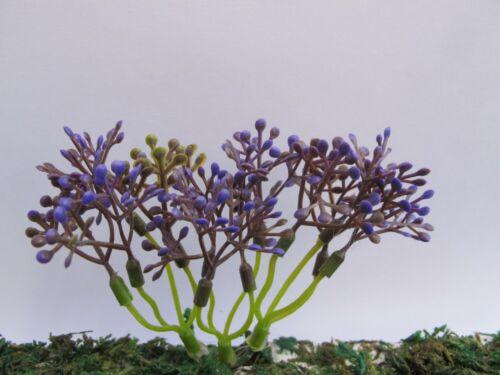 Biancheria da letto in miniatura Esausto Viola Fiore Pianta Giardino Paesaggio Casa delle Bambole F49