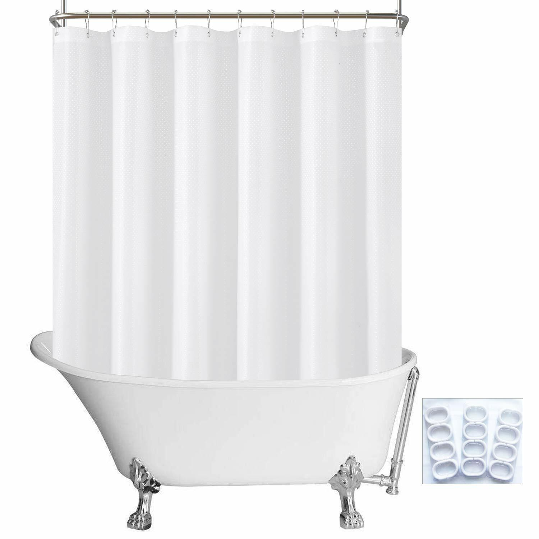 N Y Home Fabric Clawfoot Tub Shower Curtain 180 X 70 Inches All Wrap Around 36