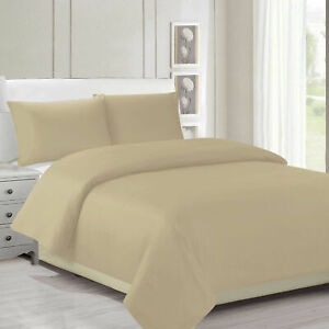 Plain Duvet Cover Bedding Set Quilt Covers With Pillowcase for Double Single Bed